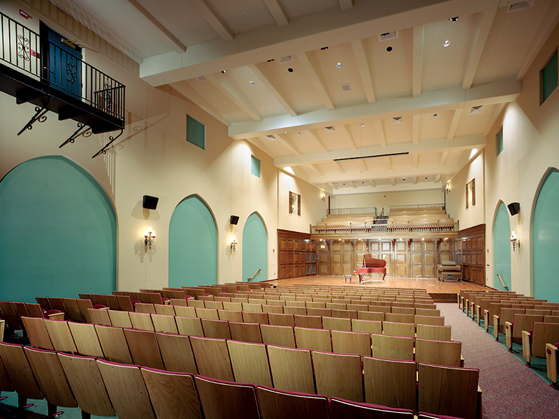 construction project management at Providence College Performing Arts Center