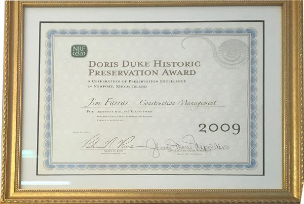 2009 Doris Duke Historic Preservation Award to Farrar Assoc